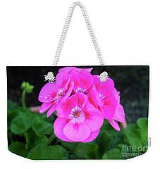 Full Bloom Geranium Weekender Tote Bag
