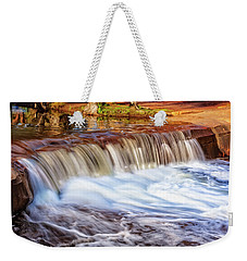 Weekender Tote Bag featuring the photograph Full Flow, Noble Falls, Perth by Dave Catley