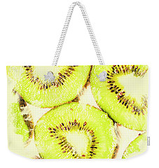 Full Frame Shot Of Fresh Kiwi Slices With Seeds Weekender Tote Bag by Jorgo Photography - Wall Art Gallery
