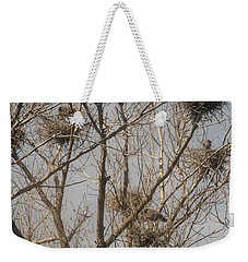 Weekender Tote Bag featuring the photograph Full House by David Bearden