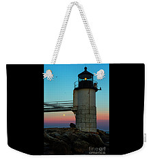 Full Moon At Marshall Point Lighthouse Weekender Tote Bag by Diane Diederich