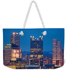 Weekender Tote Bag featuring the photograph Full Moon At  Pittsburgh  by Emmanuel Panagiotakis