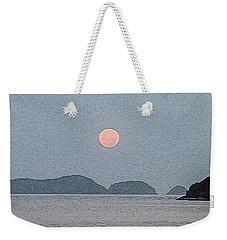 Full Moon At The Beach Weekender Tote Bag