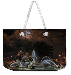 Full Moon At The Fountain Weekender Tote Bag