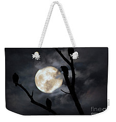 Weekender Tote Bag featuring the photograph Full Moon Committee by Darren Fisher