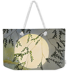 Moon And Tree Branch Painting Weekender Tote Bag