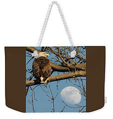 Full Moon Eagle  Weekender Tote Bag