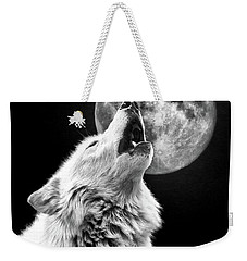 Full Moon Howl Weekender Tote Bag by Steve McKinzie