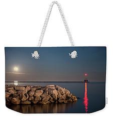 Full Moon In Port Weekender Tote Bag