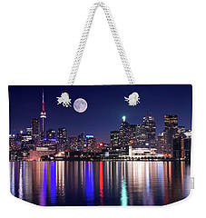 Full Moon In Toronto Weekender Tote Bag