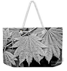 Full Moon Maple Leaf After A Spring Rain Weekender Tote Bag