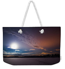 Full Moon Nightscape Weekender Tote Bag
