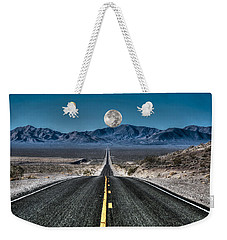Full Moon Over Death Valley Weekender Tote Bag by Donna Kennedy