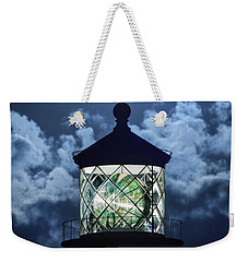 Full Moon Over Hillsboro Lighthouse In Pompano Beach Florida  Weekender Tote Bag