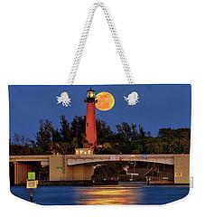 Full Moon Over Jupiter Lighthouse, Florida Weekender Tote Bag