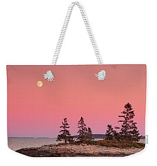 Weekender Tote Bag featuring the photograph Full Moon Over Maine  by Emmanuel Panagiotakis