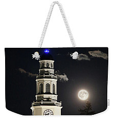 Full Moon Over Miller Library Weekender Tote Bag