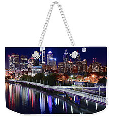 Full Moon Over Philly Weekender Tote Bag