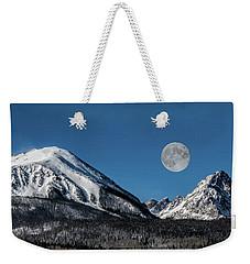 Full Moon Over Silverthorne Mountain Weekender Tote Bag