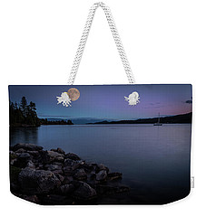 Full Moon Over The Lake Weekender Tote Bag