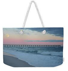 Full Moon Over The Pier Weekender Tote Bag