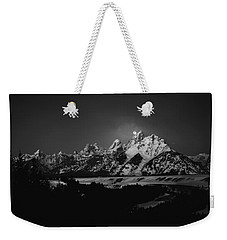 Full Moon Sets In The Tetons Weekender Tote Bag