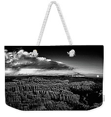 Weekender Tote Bag featuring the photograph Full Moon Rise Over Bryce by Raymond Salani III