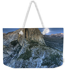 Full Moon Rising Behind Half Dome Weekender Tote Bag by Jim and Emily Bush