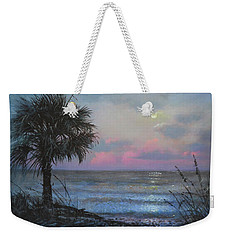 Full Moon Rising Weekender Tote Bag by Blue Sky