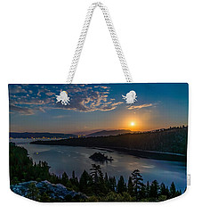 Full Moon Rising On Emerald Bay Weekender Tote Bag