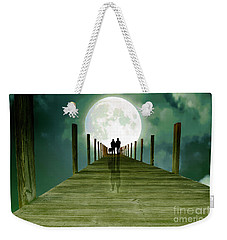 Full Moon Silhouette Weekender Tote Bag by Mim White