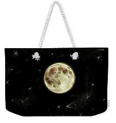 Weekender Tote Bag featuring the digital art Full Moon Summer Fantasy by Aliceann Carlton