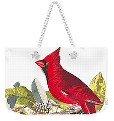 Weekender Tote Bag featuring the photograph Full Red by Munir Alawi