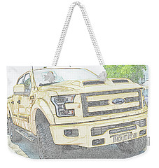 Weekender Tote Bag featuring the photograph Full Sized Toy Truck by John Schneider