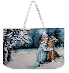 Fun In The Snow Weekender Tote Bag by Geni Gorani