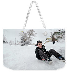 Fun On Snow-1 Weekender Tote Bag