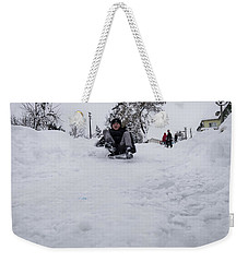 Fun On Snow-3 Weekender Tote Bag