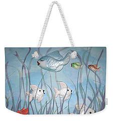 Fun With Chalkware Fish  Weekender Tote Bag