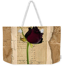 Funeral For A Friend Weekender Tote Bag by Gillian Singleton