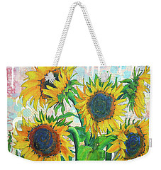 Funflowers Weekender Tote Bag