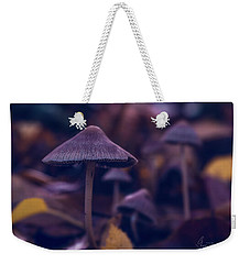 Weekender Tote Bag featuring the photograph Fungi World by Gene Garnace