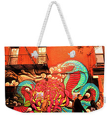 Funky Brooklyn Fire Escape  Weekender Tote Bag by Funkpix Photo Hunter