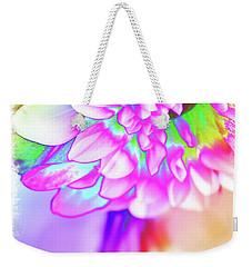 Funky Dahlia Weekender Tote Bag