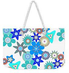Funky Flower Pattern Weekender Tote Bag by Methune Hively