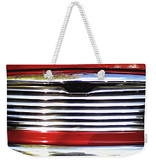 Weekender Tote Bag featuring the photograph Funky Mini Morris Cooper by Rebecca Harman