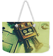 Funky Mixtape Robot Weekender Tote Bag by Jorgo Photography - Wall Art Gallery
