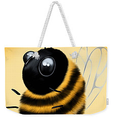 Weekender Tote Bag featuring the painting Funny Bee by Veronica Minozzi