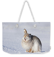 Funny Face - Mountain Hare - Scottish Highlands  #13 Weekender Tote Bag