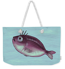 Funny Fish With Fancy Eyelashes Weekender Tote Bag