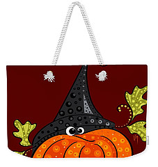 Weekender Tote Bag featuring the painting Funny Halloween by Veronica Minozzi